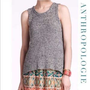 Anthropologie Sparrow Open Knit Sleeveless Sweater